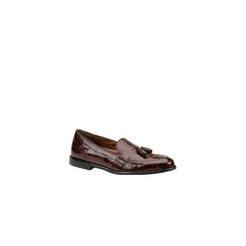 STACY ADAMS Men's Sabola 24643 Exotic Shoes,Cognac Snakeskin/Lizard/Croco Print Leather,14 M US