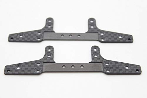 BeesClover 1.5mm Carbon Fiber Wide Rear Plate of The MA and ARChasis Self-Made Parts ForTamiya Mini 4WDCarbon Fiber C048 2Pcs/lot ()