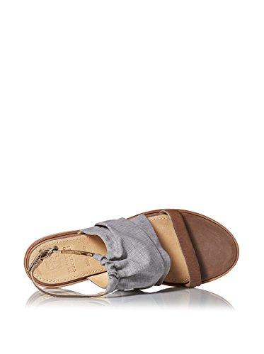 Brunello Cucinelli Kvinnor Platt Sandal Med Ankelbandet Grå / Brun