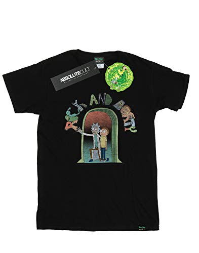 Cult Icon Negro Del And Fit Morty Absolute Doors Rick Camiseta Mujer Novio HdFPXSqx