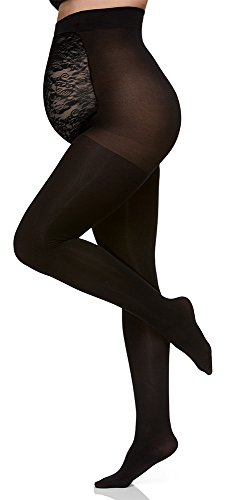 Berkshire Women's Plus-Size Maternity Opaque Pantyhose 5701, Black, C