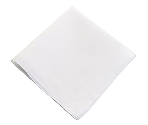 - Lillian Rose Men's Plain White Cotton Wedding Gift Hankie