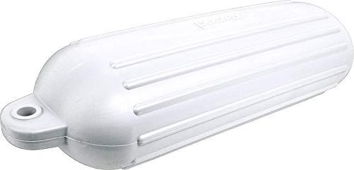attwood 9358-1 Softside UV-Resistant Marine 8-Inch x 26-Inch Oval Mooring Fender, White