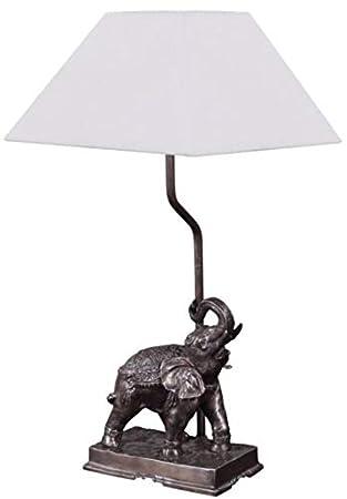 Casa-Padrino lámpara de Mesa Elefante Bronce 35 x 29 x H. 50 ...