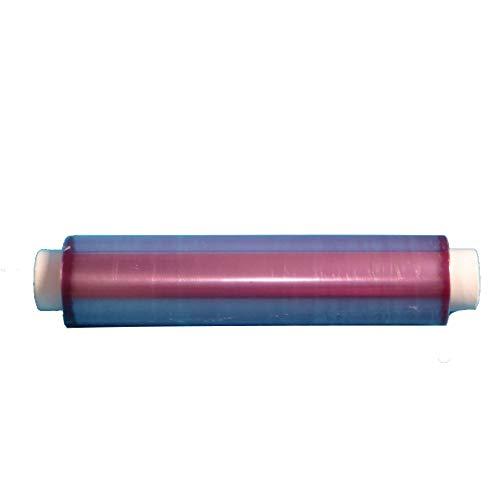4 Rollen PVC Frischhaltefolie Klarsichtfolie Abdeckfolie für Lebensmittel transparent lila Schimmer 45cm 500m vorperforierte Abrisse 45x45cm