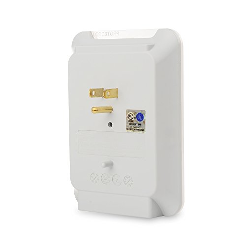 Cable 6 Wall Mount Surge Protector with USB White