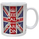 Keep Calm Carry on Union Jack Ceramic Mug