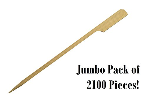 Paddle Pick Skewers Sticks Bamboo Wood by HOT STIX 100% Bamboo Wood 4.1