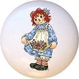 Ceramic Knob - #RA018 - Raggedy Ann Andy