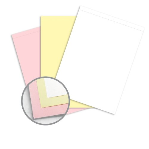 167 Sets of 3 Part - Reverse Collated, Letter Size Carbonless Paper Sets, (White, Canary, Pink), Letter Size Carbonless Paper Appleton