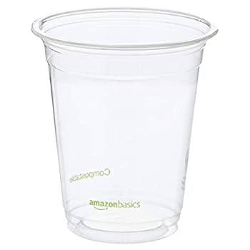 Image of AmazonBasics Compostable PLA Cold Cup, 12 oz, Clear, 1,000-Count Home and Kitchen