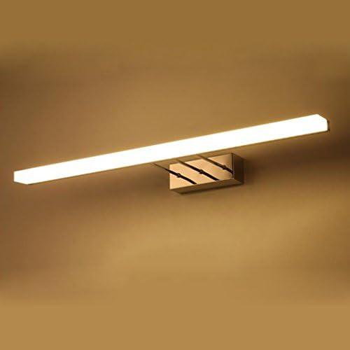 Spiegelleuchten Acryl LED Edelstahl Spiegel Lichter, Kosmetik Lichter Badbeleuchtung ( Farbe : Warmweiß-16w80cm )