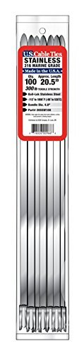 US Cable Ties 20SSW100 20-Inch 300-Pound 316 Wide Stainless Steel Ties 100-Pack [並行輸入品] B07J6RQF5D