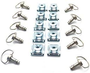 10 Pack Oldbones Motorcycle Race Fasteners Quick Release D-Ring Race Fasteners Type C 14mm Gold