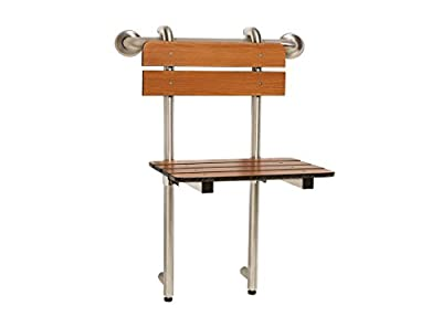 Seachrome Portable Shower Seat, Profile Bench, Hung by Grab Bar with Backrest and Legs