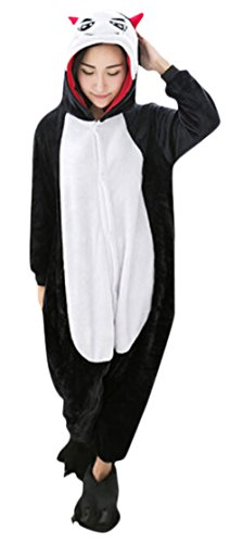 Ace Halloween Unisex Adult Couple Pajamas Loungewear Animal Costumes (M, Cute Devil) (Cute Halloween Costumes For Girl Couples)