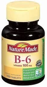 Nature Made Vitamin B-6, 100mg, Tablets 100 ea by AB