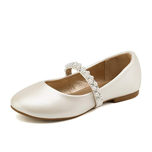 Childrens Ivory Flower Girl Shoes - DREAM PAIRS Little Kid Serena-100-Ivory Girl's
