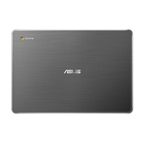 "2017 Newest Business Flagship ASUS Premium Chromebook 13.3"" Full HD 1920x1080 Display Intel Celeron Processor 4GB RAM 32GB eMMC Hard Drive 802.11AC HDMI Webcam Bluetooth 11-hour Battery Chrome OS-Gray"