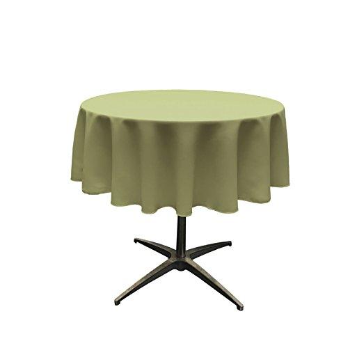 (LA Linen Tablcloth Polyester Poplin Tablecloth 58-Inch Round, Sage Dark)