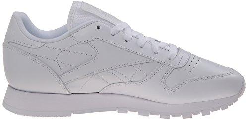 Reebok Women's Classic Leather, White/White/White, 8 M US