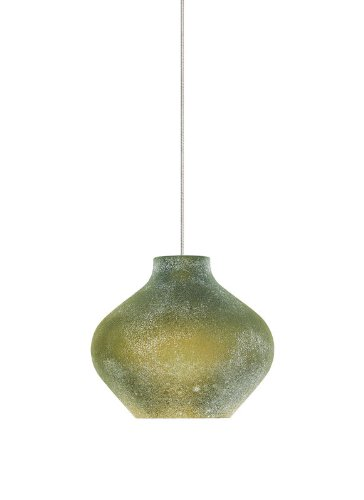 Scavo1 Light Kable Lite Pendant Finish: Satin Nickel, Color: Green (Led Modern Lite Kable)
