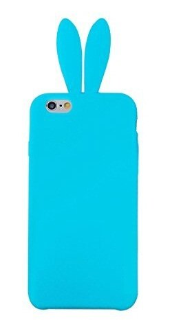 Bunny Skin Case - iPhone 6 Case,Newstore Cute Lovely Rabbit Silicone Bunny Gel Case Skin Cover Protector For Apple iPhone 6 4.7 inch with Furry Tail +Free Packing With Newstore Trademark gifts (Light Blue)
