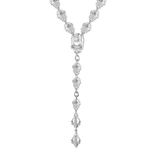 Jade Jagger Collier Rosaire Acier Inoxydable Ronde Diamant Transparent Femme