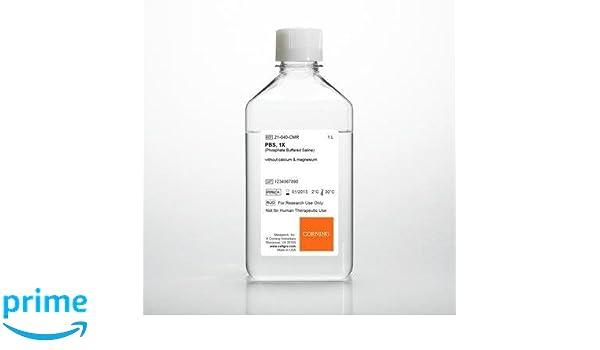 Mediatech 21-040-CV - Salina de fosfato (1 X, sin calcio ni magnesio, 500 ml, 500 mm, 6 unidades): Amazon.es: Industria, empresas y ciencia