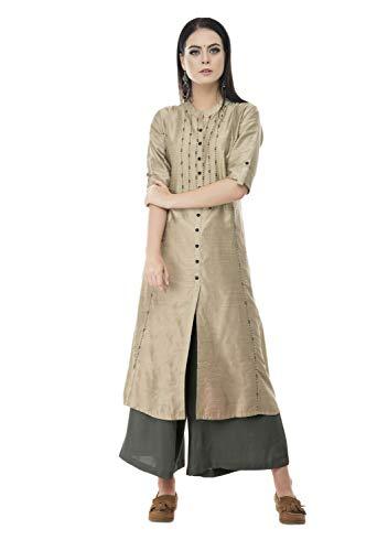 Lagi Kurtis Ethnic Women Kurta Kurti Tunic Solid A-Line Polly Silk Kurta Top Dress Casual Wear New Launch -