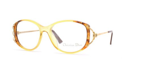 Christian Dior - Monture de lunettes - Femme Jaune Yellow Brown