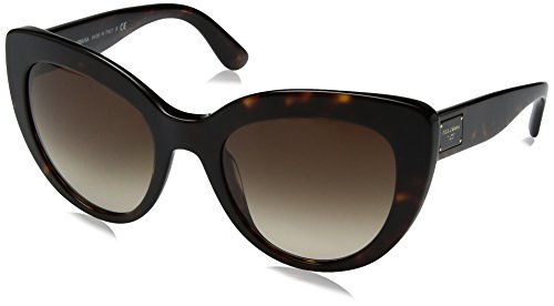 Dolce & Gabbana Women's Acetate Woman Cateye Sunglasses, Havana, 53 - Women Gabbana And Dolce Sunglasses