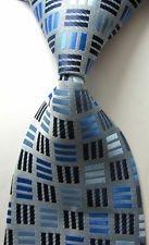 Comfort Products Set Mattress (jacob alex #38819 Classic Necktie Blue&Gray Plaids WOVEN JACQUARD Silk Men's Suits Ties)