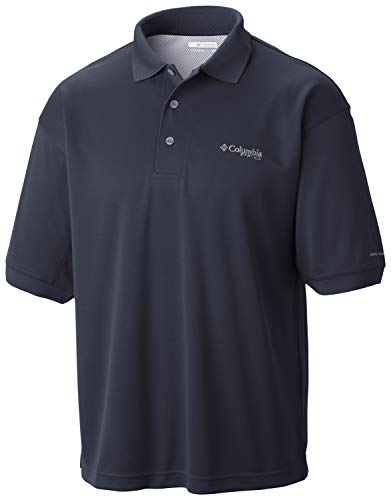 Columbia Sportswear Men's Perfect Cast Polo Shirt, Collegiate Navy, Large Tall