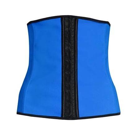 4c178aca2b2 Image Unavailable. Image not available for. Color  Blue Corset Body Shaper  Sport Latex Rubber Waist Trainer Cincher Underbust Shapewear Size M Women  Sports