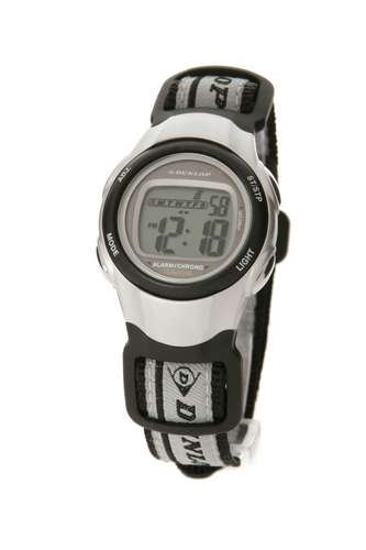 Dunlop DUN-25-M01 - Reloj de mujer con correa textil negra - sumergible a 50 metros: Amazon.es: Relojes