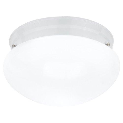 Sea Gull 5328-15 Stockholm 2-Light White Flush Mount Ceiling Fixture