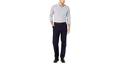 Dockers Men's Men's Big & Tall Signature Khaki D3 Classic Fit Pleated Dockers Navy Stretch Pants