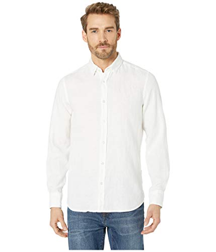 BOSS Orange Men's Relegant Long Sleeve Button Down Regular Fit Shirt, White ()