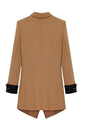 Autunno Primaverile Slim Tasche Giacche Vintage Manica Lunga Camel Elegante Fashion Con Base Giacca Blazer Tailleur Donna Sudore Cardigan Classiche Business Fit Da Monocromo cAvWTU0