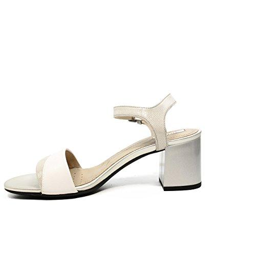 Geox D724XB0SKBC Sandalia Mujer Blanco / Plata