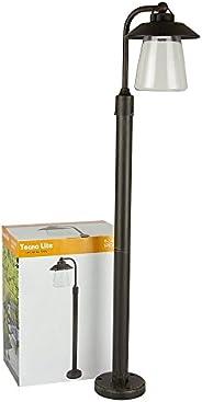 Lámpara de Exterior, Sobreponer en piso, color Bronce Antiguo Tecnolite H-3423/BA