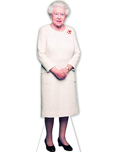 (Aahs Engraving Queen Elizabeth II Life Size Carboard Stand Up, 5 feet )