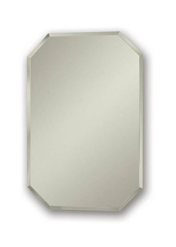 Jensen 1454 Mirage Octagonal Frameless Medicine Cabinet with Beveled Mirror