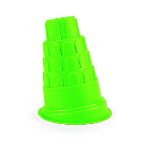 Hape Beach Toy Leaning Tower of Pisa Sand Shaper Mold Toys, Green