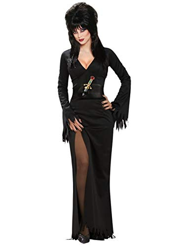 Elvira Mistress of the Dark Full-Length Dress, Black,Small