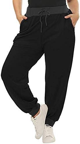 Pantalones de chándal para mujer, talla grande, con cordón, color ...