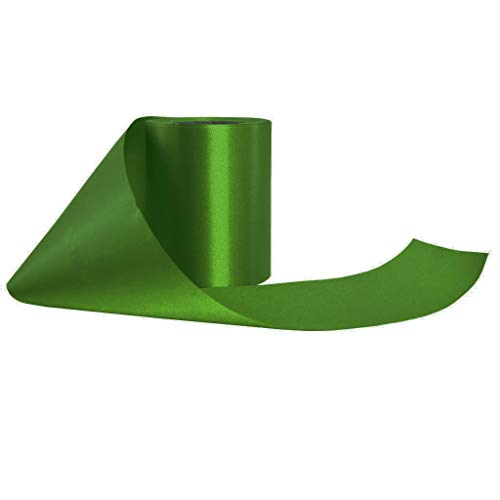 Wonder Clothing Grand Opening Ribbon 4 inch Wide 25 Yards Long Roll (Light Green)