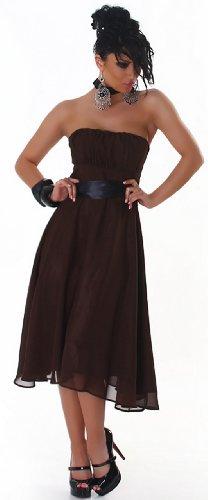 JELA London - Vestido - Sin mangas - para mujer darkbraun