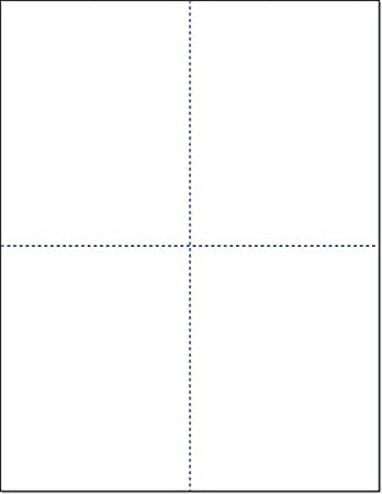 8-1/2 x 11 Laser and Inkjet Printer Postcards 4 up Per Page, (4-1/4